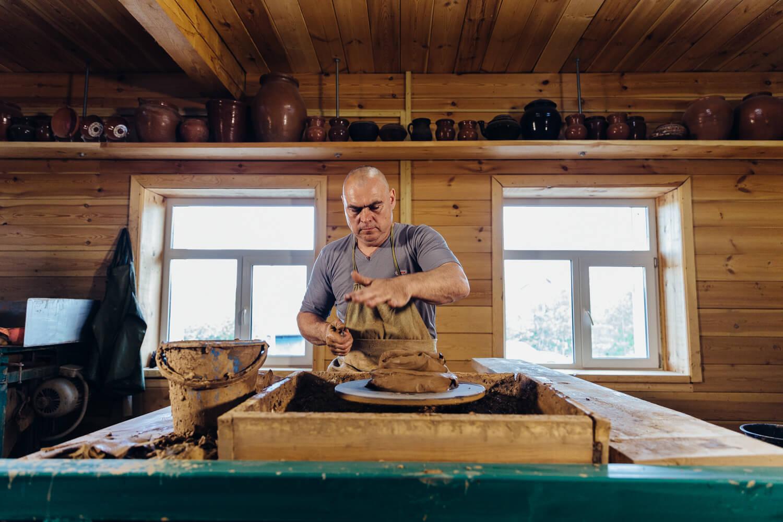 гончар из таволог подготовка глины